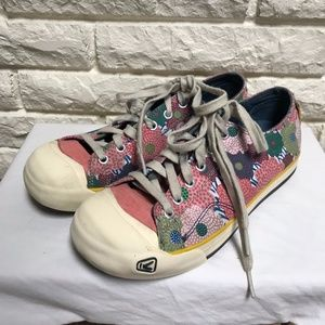 KEEN canvas floral flower lace up sneakers